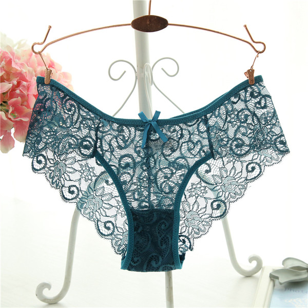 Plus Size S/xl Fashion High Quality Women's Panties Transparent Underwear Women Lace Soft Briefs Sexy Lingerie C19040901