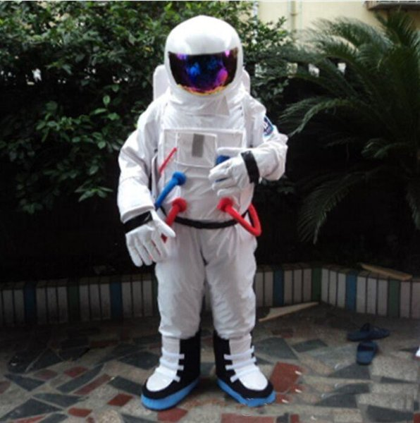 2019 hot sale Space suit mascot costume Astronaut mascot costume with Backpack glove,shoesFree Shipping