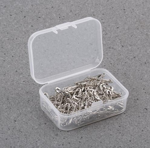 100 adet / takım gümüş kaplama metal emniyet pimi 19mm yılında giysi etiketleri için iyi, etiketleri emniyet pimi