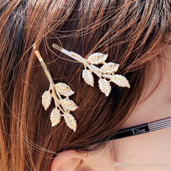 Modische weibliche Kopfschmuck Legierung Blatt Seestern Haarspange Seitenausschnitt Schachtelhalm Haarspange Schmuck Haarnadel Clipping Girl.