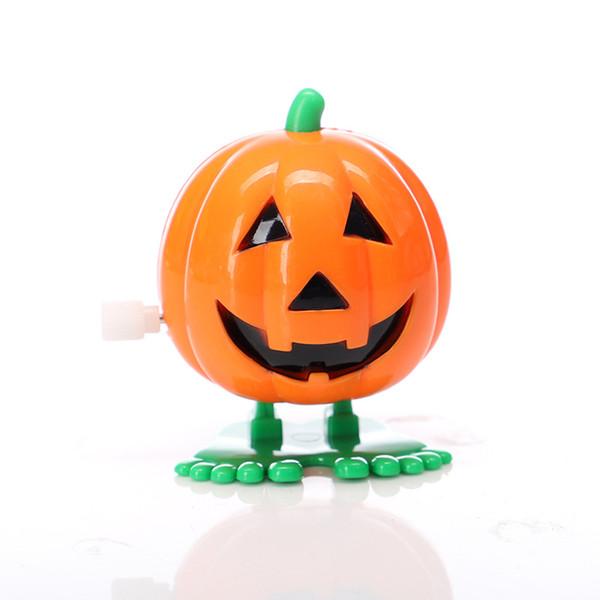 Decoración de calabaza de Halloween en la cadena de salto creativo Pequeño juguete de Halloween los niños caminando vampiro regalo caliente