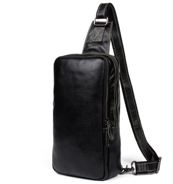top popular High quality handmade fashion men sling bag cross body messenger bags 4 colors outdoor women waist bag pack chest bag 51994 2020