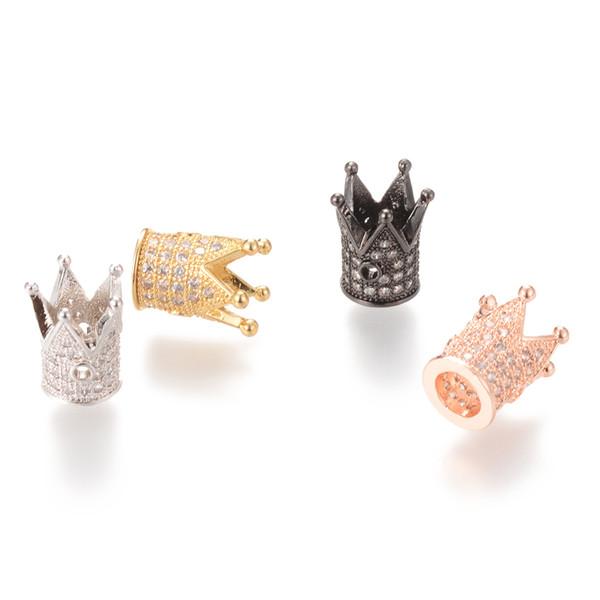 Zirkonia Perlen Crown Micro Pave Spacer Beads 12.2 * 10.4mm Pave Spacer Beads ICYS009B kein Nickel und Blei Schmuck Zubehör Großhandel