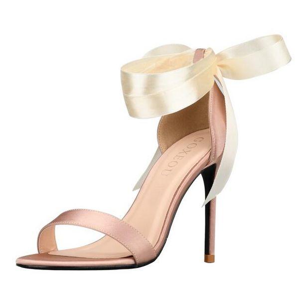 2019 zapatos de sandalias de boda de diseñador 10 cm zapatos de tacón alto zapatos de novia correas En stock Mujer vestido de fiesta de baile de fiesta de niña Bombas