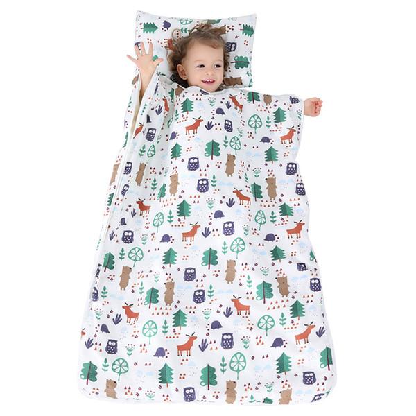 Kid Nap Mat Toddler Cotton Nap Pad For Preschool Daycare Kindergarten Travel Removable Pillow Sleeping Bag Baby Sleep Blanket Kids Plush Blankets From