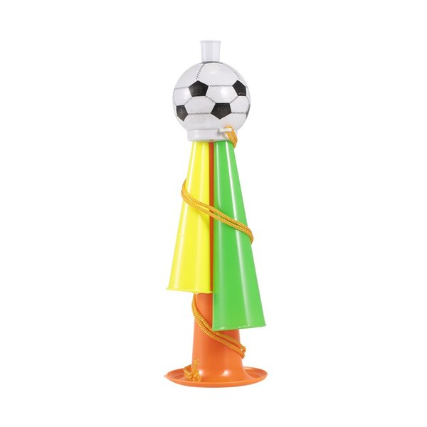 1Pcs Plastic Trumpet Toy with Portable String Cheer Up Horn for Sporting Events and Party Atmosphere Making
