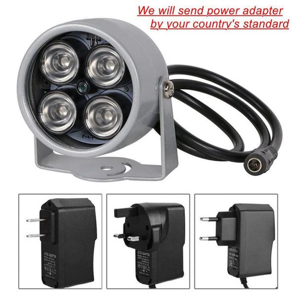CCTV LED 4 Array IR LED Illuminator Licht IR wasserdichtes Infrarot-Nachtsicht-CCTV-Fülllicht für CCTV-Kamera IP-Kamera