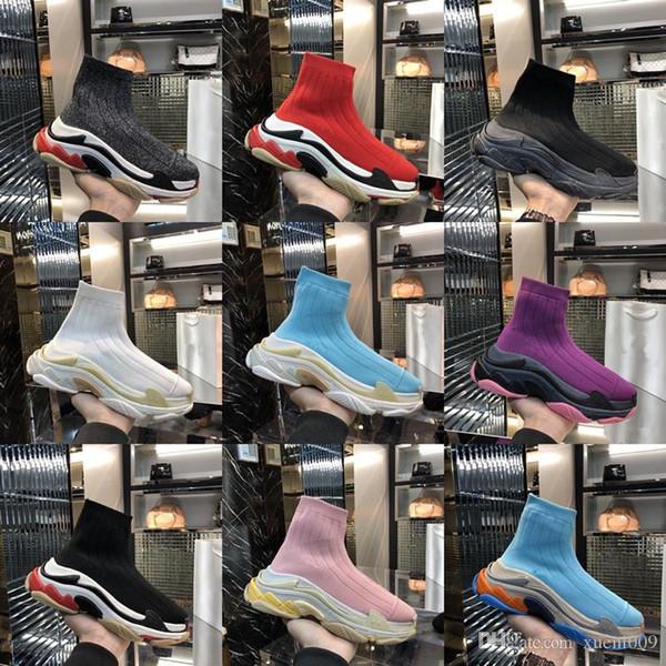 2019 New Fashion Paris Triple-S Designer Scarpe Sneakers Triple S Uomo Casual Donna designer casual Sport Sneakers zapatos 16819050601