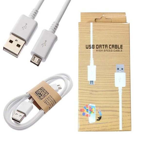 perakende kutusu ile Samsung Galaxy i9500 S4 S3 S2 HTC için 1M 3 ft Mikro USB Data Sync Şarj kablosu Kablo mikro usb telefon şarj kablosu