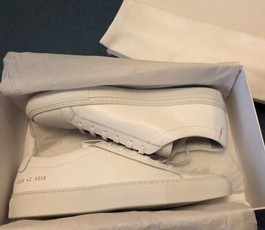Neue gemeinsame Projekte von Frauen Weiß Rosa Achilles Low Top Schuhe Frauen Turnschuhe aus echtem Leder Freizeitschuhe Wohnungen Chaussure Femme Homme wgp12