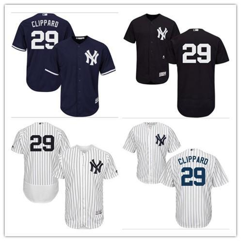 2019 custom New York Majestic Jersey Yankee# 29 Tyler Clippard Home Men's women youth Blue Grey White Baseball Jerseys
