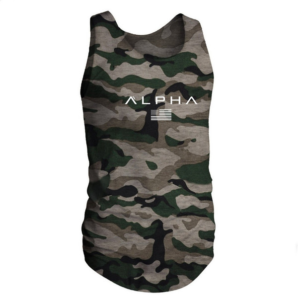 2019 Men Summer Gyms Fitness bodybuilding Tank Top Fashion Mens Crossfit Clothing Tight Breathable Sleeveless Shirts Vest #281213