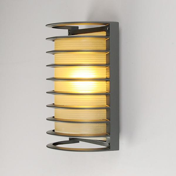 5pcs Modern LED Wall Lamp 15w AC 110v 220v For Lobby Hotel Villa Outdoor Waterproof Semi-circle Aluminum Wall Lamp