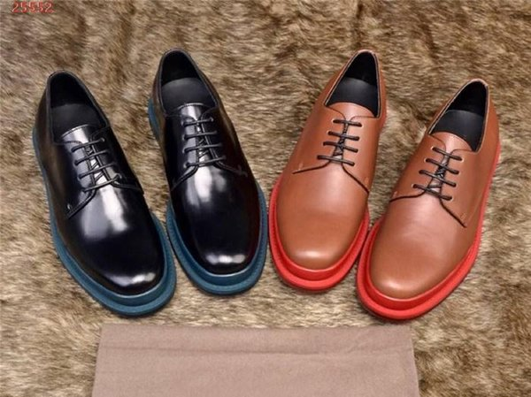 New breathable British style formal business leather men shoes Italy Oxford shoes lace wedding casual shoes