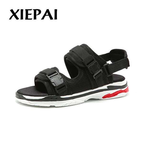 XIEPAI Yeni Moda Erkekler Tuval Sandalet Nefes Rahat Yaz Ayakkabı Patchwork Tasarım Kalite Adam Slip-on Plaj Terlik