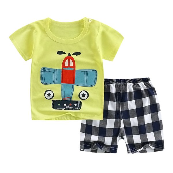 2019 Baby Boy Girls Cotton T-Shirt+Short Pants Kids Clothing Sets Clothes Outfits Bebes Suits 12M to 5 Years Old 2 PCS Set