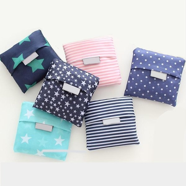 Nuovi sacchetti di acquisto pieghevoli di nylon acquistabili Sacchetto di immagazzinaggio riutilizzabile di Eco Sacchetti di acquisto amichevoli Borse di totalizzatore
