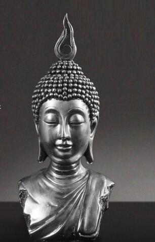 Buda Baş, Barış, Buda Heykeli, Bodhisattva, Ev Dekor, Reçine El Sanatları, Süsler, 2 Renk Isteğe Bağlı ~