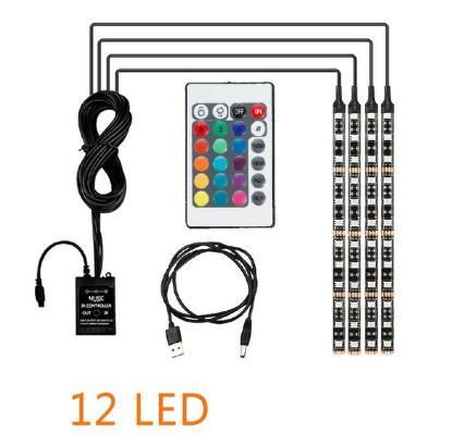 USB / 4PCS / 12LED / 48LED