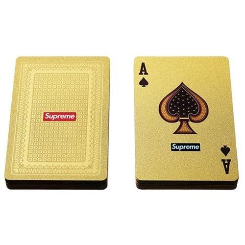 Sup poker playing card14FW Waterproof Luxury 24K Gold Foil Plated Poker Premium Matte Plastic Board Games