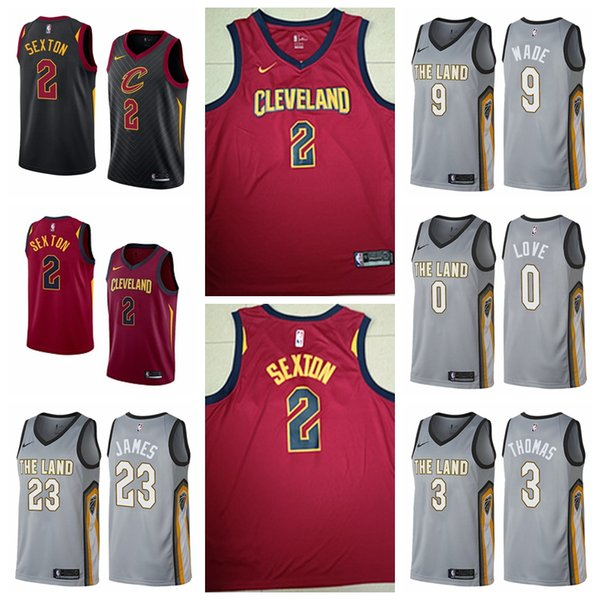 best website 571a6 ff225 2019 Top Quality Jerseys Cavaliers 2018 19 New Season Men Basketball Jersey  0 Kevin Love 9 3 Wade 23 LeBron James 2 Ollin Sexton From Ginoble1, $23.62  ...