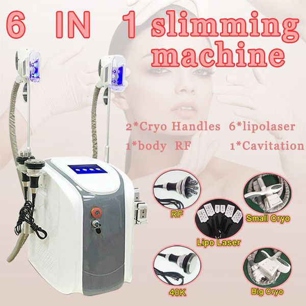 Hot sale!!!! 2 Cryo Handle Portable Cryo lipolysis Fat Freezing Machine Diode Lipo Laser Cavitation RF Slimming Machine Free Shipping