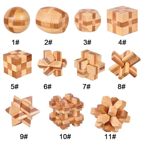 Iq brain teaser kong ming schloss 3d holz interlocking grat puzzles spiel spielzeug für erwachsene kinder