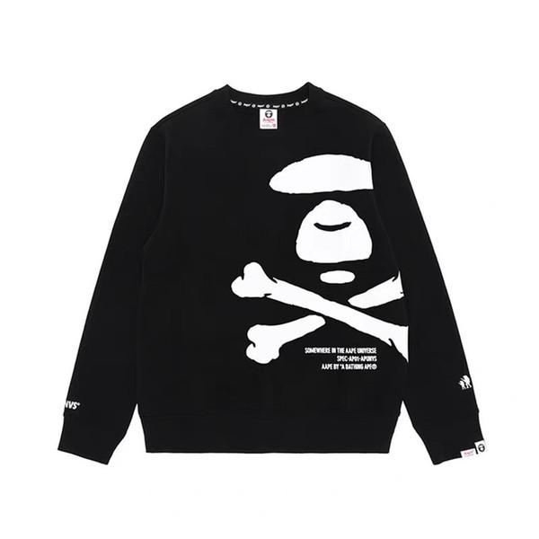 top popular AAPE Hoodie Hip Hop AAPE Designer Hoodie Men Women High Quality Black White Mens Designer Hoodies Sweatshirts Size M-XXL 2019