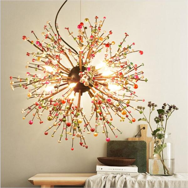 Lampada a sospensione vintage a LED moderna sfera di cristallo globo luci a sospensione lampadario illuminazione plafoniera per soggiorno Foyer Resturant
