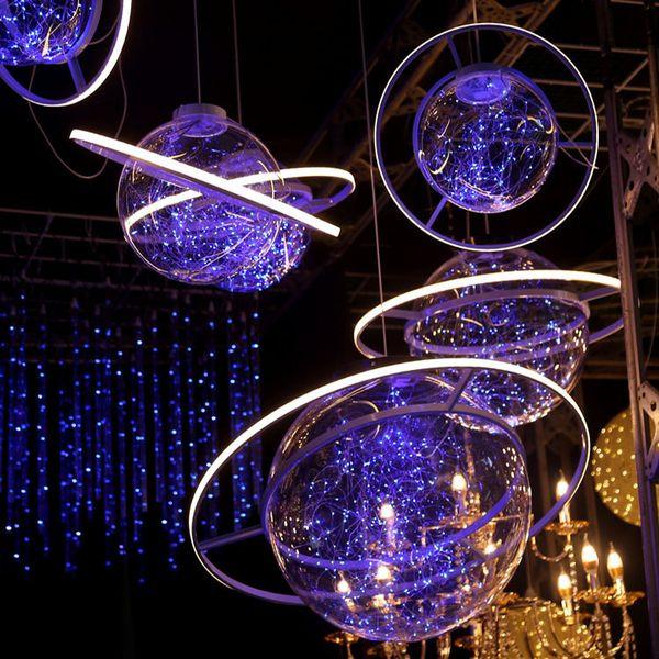 Decorazione di nozze appeso puntelli stellati spazio palla fantasia stellato matrimonio decorazione lampadario finestra decorazione cerimonia palla