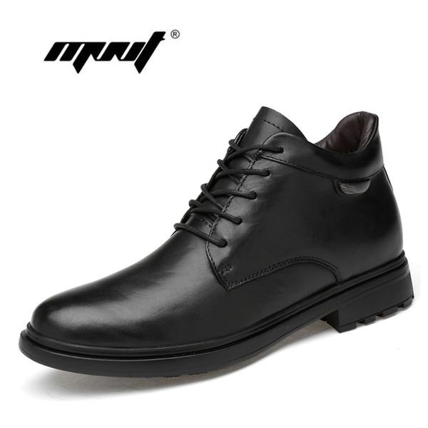 Caviglia Stivaletti uomo autunno-inverno Moda Uomo S Basso Tagliate peluche di alta qualità pelliccia Snow Boots Leather Shoes Genuine