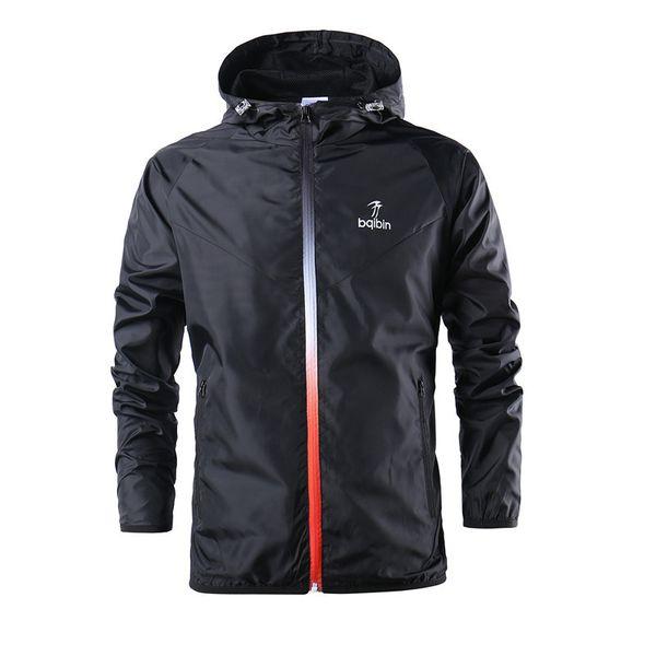 Jaqueta esportiva dos homens Outono inverno ativo com capuz jaqueta blusão ultra leve correndo treinamento roupa Cor preto verde tamanho Asiático S-2XL