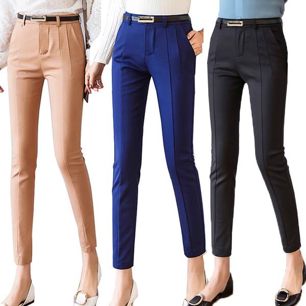 Брюки женские 2019 Новый лодыжки капри женские леггинсы Pantalon Femme Рабочая одежда Тонкий высокой талией эластичные повседневные женские брюки MX190717