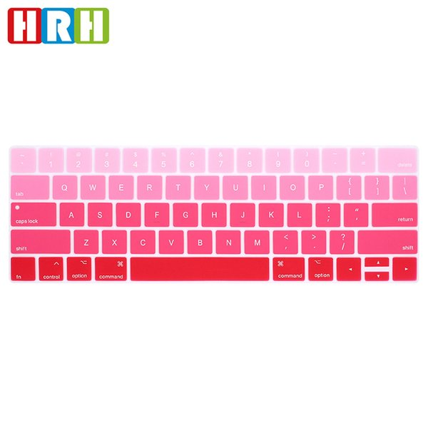 """Rainbow Silicone US Keyboard Cover Skin Protector For Macbook Pro 13"""" A1706 A1989 and 15"""" A1707 A1990 with Touch Bar"""
