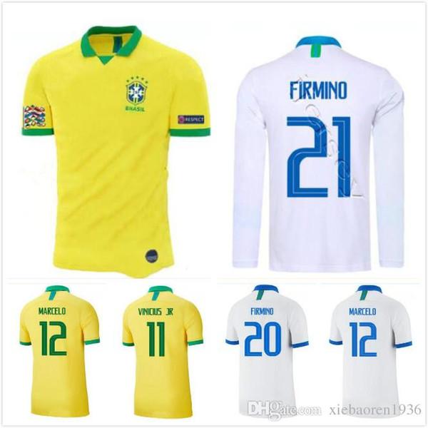 2019 Brasilien Copa America Brazil Fußball-Trikot 19 20 Fußball Trikot DAVID LUIZ MARCELO PAULINHO COUTINHO G.JESUS WILLIAN Weltmeisterschaft
