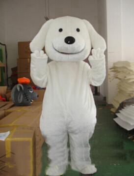 2019 costumi di mascotte dei cartoni animati di cane bianco caldo di fabbrica Costumi di personaggi dei cartoni animati di festa