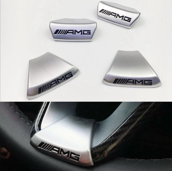 For AMG Mercedes Benz W212 W211 W210 GLC GLA E200L C/E class Car Steering Wheel AMG LOGO Emblem Car Sticker Sports Edition