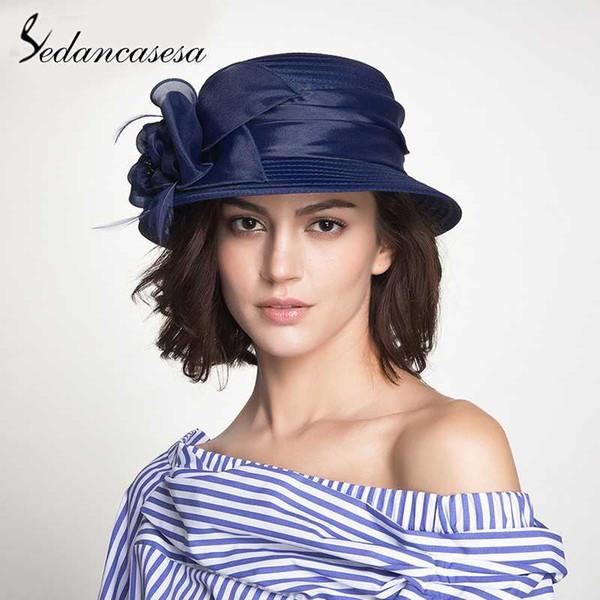 Sedancasesa Elegante Einstellbare Wide Brim Hüte für Frauen handgemachtes Große Blumen-Strand-Sommer-Sonne Caps Cap Tragbare Sonnenhut
