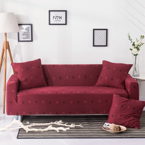 Pleasing Stretch Sofa Cover Elastic Couch Cover Loveseat Chair L Style Sofa Slipcover Fully Wrapped Corner Covers Housse De Canap Sofa Recliner Covers Andrewgaddart Wooden Chair Designs For Living Room Andrewgaddartcom