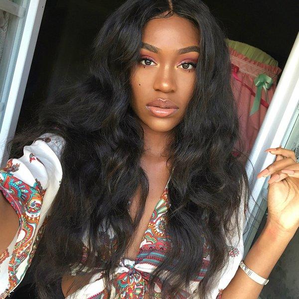 8a Uzun ömürlü Brezilyalı vücut dalga dantel ön peruk siyah kadınlar için Tam Dantel Peruk Ön Koparıp Hairline bebek saç ağartılmış knot Ile