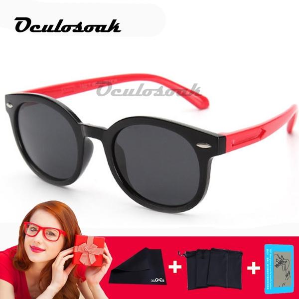2019 Yeni Çocuk Polarize Güneş Gözlüğü Çocuk Erkek Kız Silikon Gözlük Moda Çocuk Bebek Güvenliği Güneş Gözlükleri Uv400