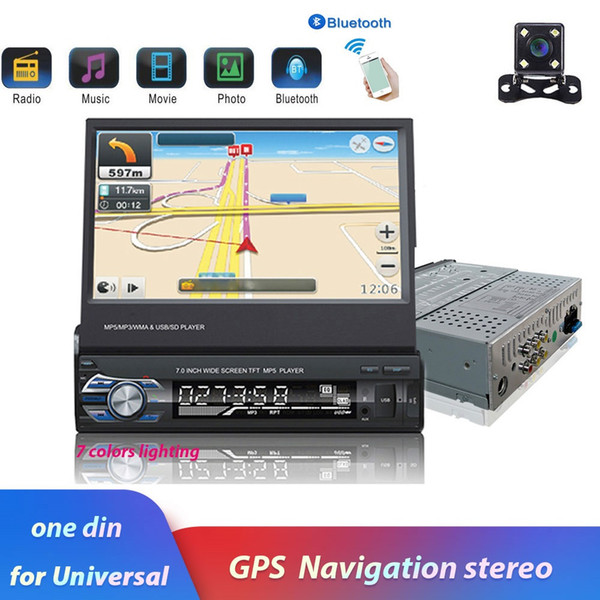 """best selling 7"""" Android Mirror Link Car Radio MP5 Player Bluetooth GPS DVD AUX-IN  FM Autoradio Multimedia For Universal Audio stereo"""