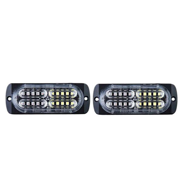 2PCS 20 Danger d'urgence LED d'avertissement flash stroboscopique Beacon Attention Light Bar