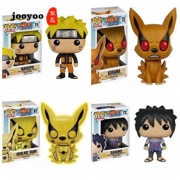 vente en gros POP Naruto Figure Naruto Sasuke Neuf Queue Fox Q Version En Boîte Action Figure Figure Modèle Poupées Décoration Jooyoo