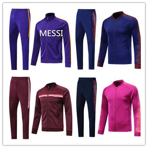 Спортивный костюм футбольной куртки MEssi 2019/20 del Chandal 19 20 Комплект курток высшего качества COUTINHO SUAREZ комплект спортивных костюмов с молнией