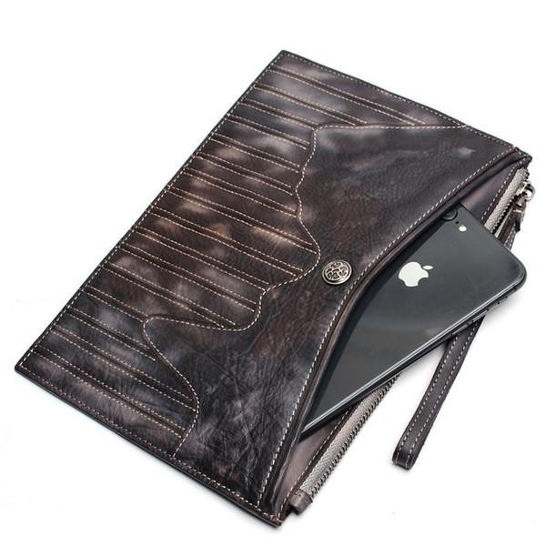 2019 New Retro Women's Clutch Bag Leather Women Envelope Bag Clutch Gray Bag Female Clutches Handbag