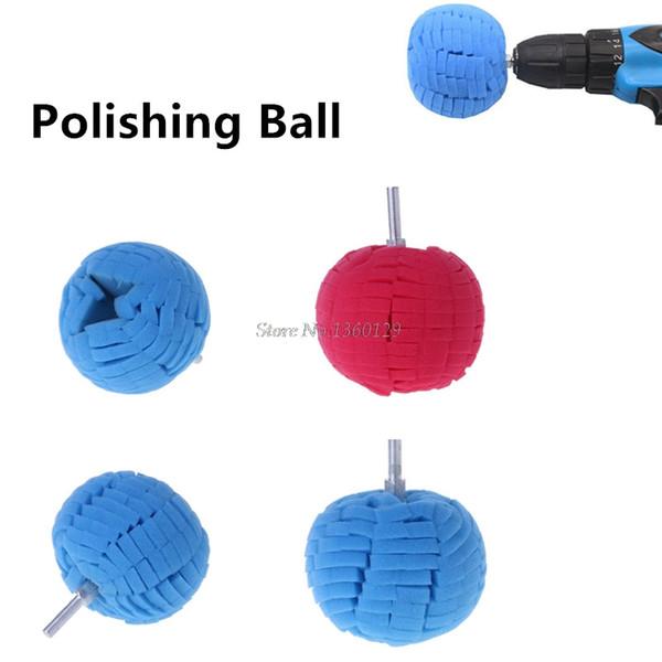 "top popular 1PC Soft 3""(80mm ) Buffing Ball Finishing Pad Practical Buff Polish Pad Buffer For Car Polishing Polisher Colorful Auto Tools 2020"