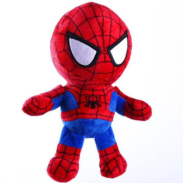 The avengers Plush Toys Dolls 11inch 28cm Kids Super Heroes Captain America Iron Man Spiderman Soft Stuffed Toys for Children