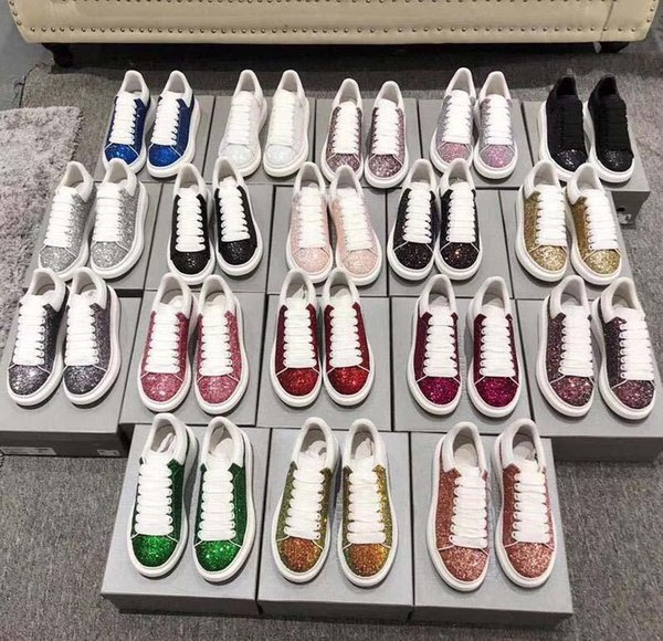 New Mens Womens 039 Fashion White Leather Platform casual Shoes Flat Casual Shoes Lady Black Red Pink Sneakers 70