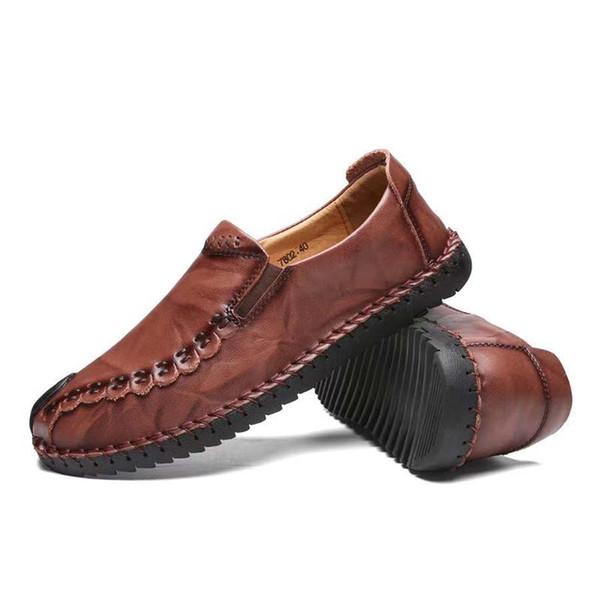 Cuir véritable Baskets dfjhQuality Baskets Chaussures Hommes Femmes Chaussures Casual Mocassins Flips Flops Bottes Taille: 35-45 avec boîte par shoe09 PH054